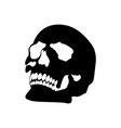 halloween skull icon vector image vector image