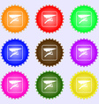 hang-gliding icon sign Big set of colorful diverse vector image vector image