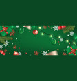 happy new year banner christmas background xmas vector image
