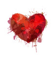 heart made colorful grunge splashes vector image vector image