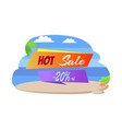 hot sale 20 off poster tropical beach sea view vector image vector image