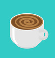 hypnot coffee mug hypnosis aroma swirl vector image
