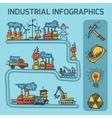 Industrial sketch infographic set vector image vector image