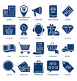 internet shopping icon set in flat style vector image