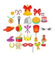 joy icons set cartoon style vector image vector image