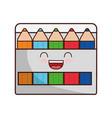 kawaii colors box icon vector image vector image