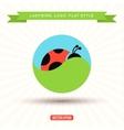 Ladybug Logo grass sky icon vector image