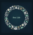 logo circle nautical theme vector image vector image