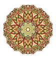 mandala round oriental pattern doodle drawing vector image vector image
