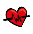 Medical cardiology heartbeat vector image
