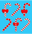 merry christmas candy cane peppermint stick icon vector image vector image