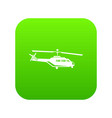 military helicopter icon digital green vector image vector image