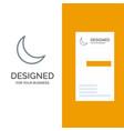 moon night sleep natural grey logo design and vector image vector image