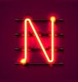 neon font letter n art design signboard