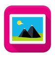 Photo image flat app icon with long shadow vector image vector image