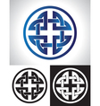 quaternary celtic knot vector image vector image