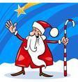 santa claus cartoon christmas vector image vector image