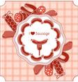 Sausage invitation vector image vector image