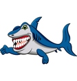 shark cartoon vector image vector image