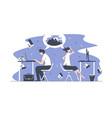 smart office workers vector image vector image