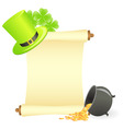 st Patrick's day scroll vector image vector image
