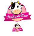The Sweet Cow vector image vector image