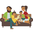 Young family vector image vector image