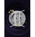 zodiac gemini sign a4 print poster with vector image vector image