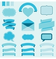 Banners labels and ribbons for design invitation vector image