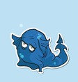 Charming cartoon monster with a trunk vector image