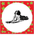 great sphinx in giza egypt vector image