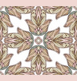 seamless texture with colored tribal hamsa with vector image