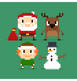 171016 1550 pixel christmas vector image vector image
