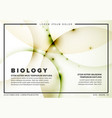 abstract biology flyer template vector image vector image