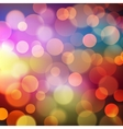 Abstract Golden Holiday Background bokeh effect vector image vector image