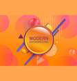 abstract orange design various geometric shapes