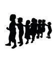 activity kid silhouettes vector image