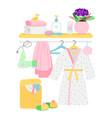 bathroom accessories hygiene items bathrobe vector image