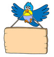 bird with sign vector image vector image