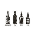 bottles bar vector image