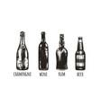 bottles bar vector image vector image