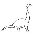 brachiosaurus icon outline style vector image vector image