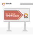 business bill board design with logo and creative vector image vector image
