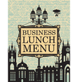 business lunches vector image