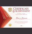 certificate or diploma design template 3 vector image vector image