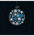 Christmas ball from colored snowflakes vector image