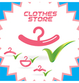 Clothes Shop Icons vector image vector image