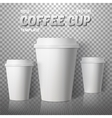 Coffee Cup Photorealistic EPS10 vector image vector image
