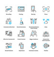 consumer generated advertising icon collection set vector image