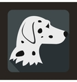 Dalmatians dog icon flat style vector image vector image